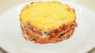 Ленивая ЛАЗАНЬЯ из лаваша / Lazy Lasagna Recipe(Рецепт приготовления быстрой и очень вкусной Лазаньи из лаваша. Интересное это блюдо, лазанья из лаваша...., 2016-10-20T12:43:06.000Z)
