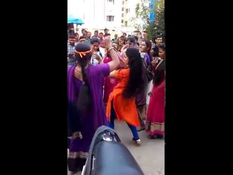 Ganesh day India Hyderabad live Indian dance with Sari music