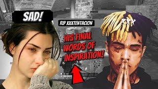 Fortnite Reaction To XXXtentacions LAST INSPIRING WORDS! (EMOTIONAL VIDEO!)