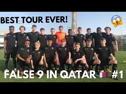 THE BEST ACADEMY FOOTBALL TOURNAMENT EVER! False 9 in QATAR MY CRAZY ACADEMY FOOTBALL EXPERIENCE #1