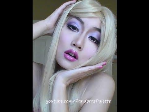 Cute Barbie Doll Makeup Tutorial (Sexy Asian Blonde ?)