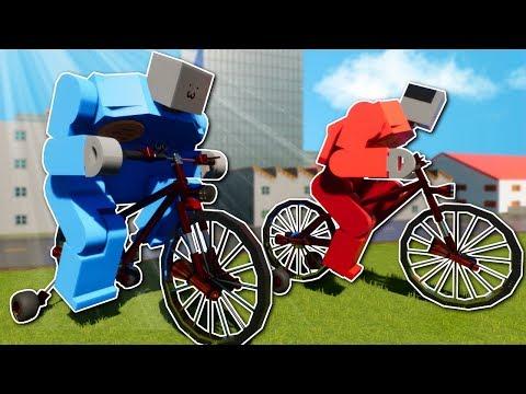 CRAZY BIKE RACE! - Brick Rigs Multiplayer Gameplay - Lego Canyon Bike Race