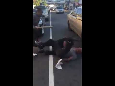 West Philly hood fight couple jumps oldhead