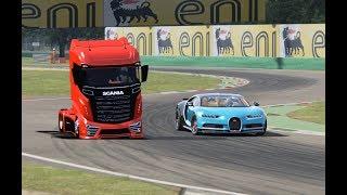 Bugatti Chiron vs Scania Truck - Monza
