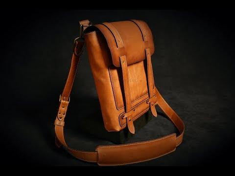 Leather Satchel, Messenger Bag DIY Tutorial And Pdf Patterns