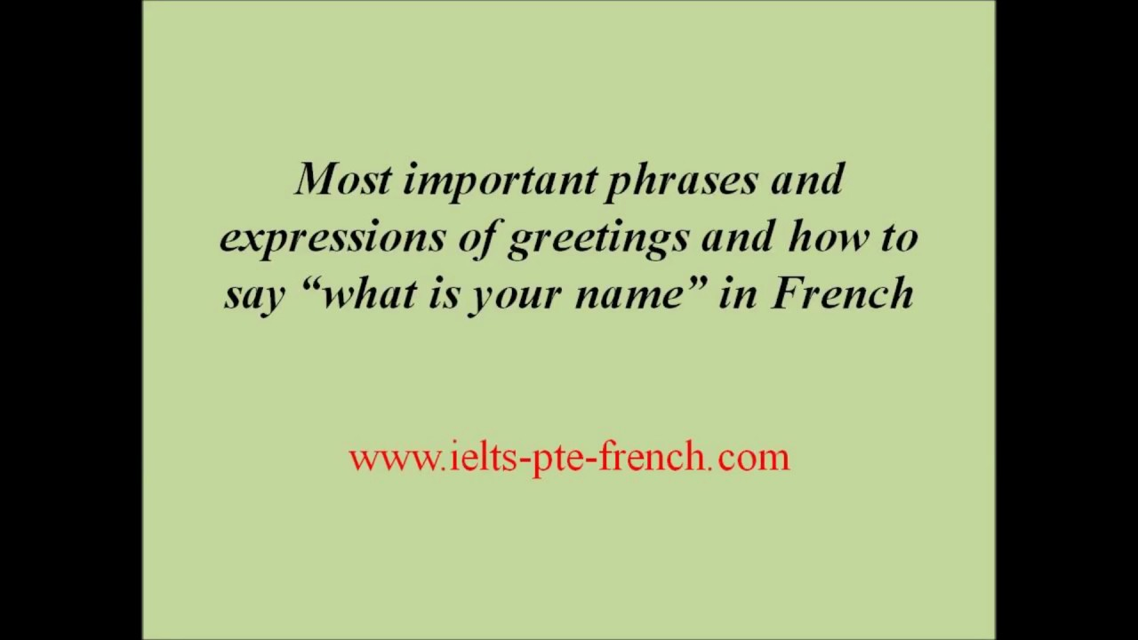 Greet in french gallery greetings card design simple how to greet and ask name in french youtube m4hsunfo