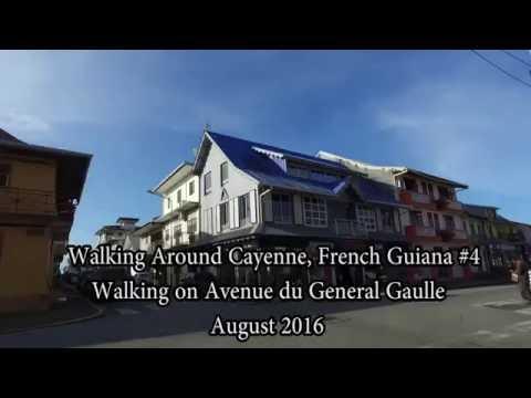 Walking Cayenne, French Guiana,  Avenue du Gaulle 4/4 Aug 2016