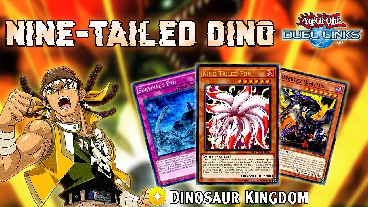 [Yu-Gi-Oh! Duel Links] Nine-Tailed Dino (Dinosaur feat  Zombie)