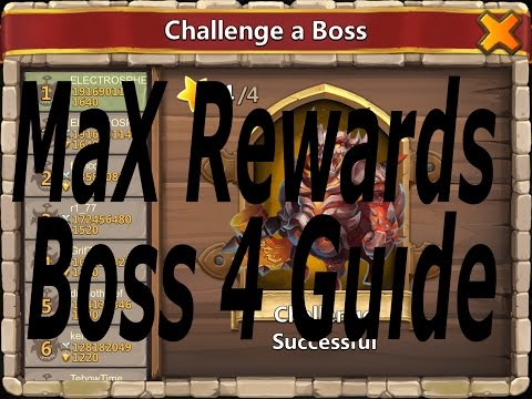 Castle Clash - Boss 4 Guide Max Rewards....