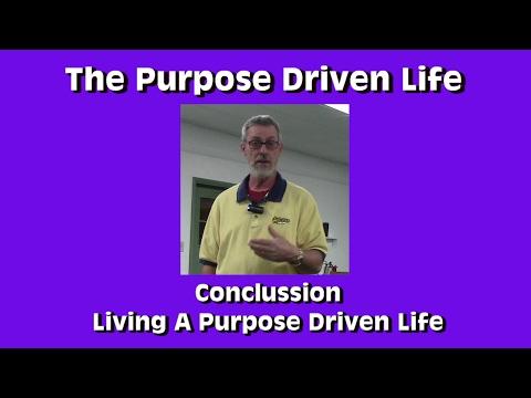 Purpose Driven Life Living a Purpose Driven Life