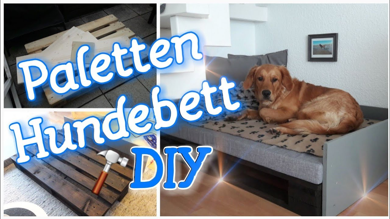 hundebett aus paletten diy paletten hundebett. Black Bedroom Furniture Sets. Home Design Ideas