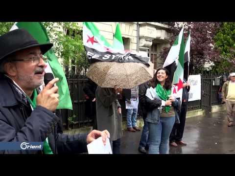وقفة احتجاجية أمام السفارة الروسية في باريس تضامنا مع إدلب وحماة  - 11:55-2019 / 5 / 11