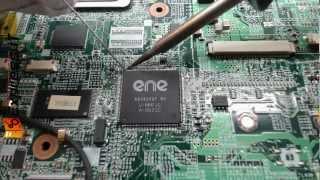 Naprawa laptopa HP Pavilion DV6000 - lutowanie układu KBC (144pin L-QFP).