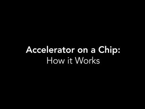 Logran acelerar electrones en un chip de vidrio nanoestructurado