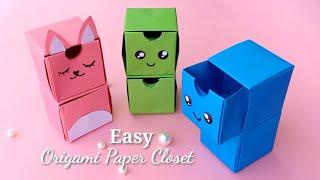 How To Make Easy Origami Paper Closet // DIY Origami Paper Craft ✨