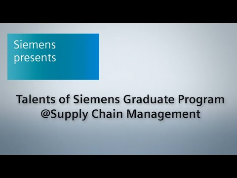 Talents about the Siemens Graduate Program at Supply Chain Management