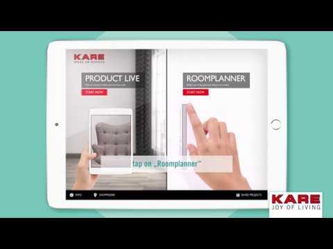 KARE Room Designer App - Insert KARE products into a virtual room (VR) Tutorial