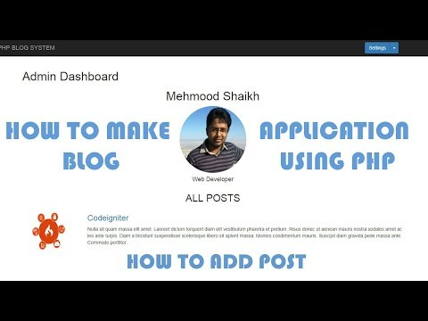 PHP BLOG Application - How to add BLOG Post Part-7