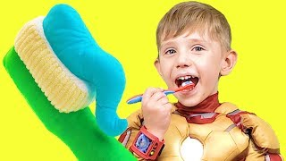 Brush Your Teeth Song for kids | Tooth Brushing Song - Nursery Rhymes for children