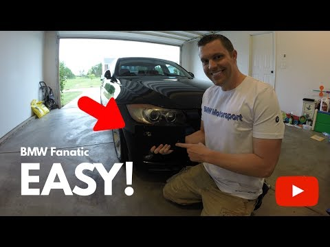 CP-E BMW Front License Plate Frame DIY Install! Easy!