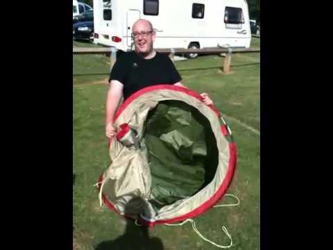 Putting away a self erecting tent & Putting away a self erecting tent - YouTube