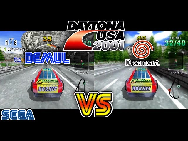 DEMUL Vs Real Dreamcast - Daytona USA 2001