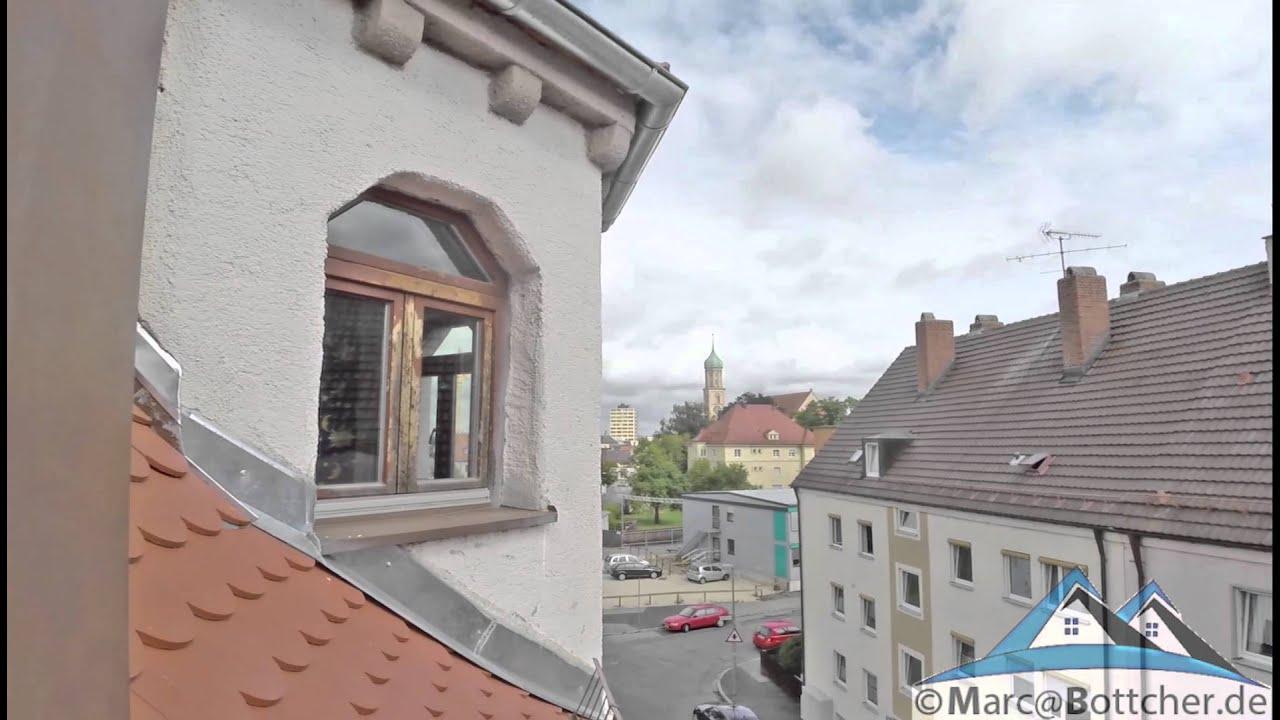 4 zimmer maisonette wohnung in augsburg oberhausen ausbaubares dg youtube. Black Bedroom Furniture Sets. Home Design Ideas
