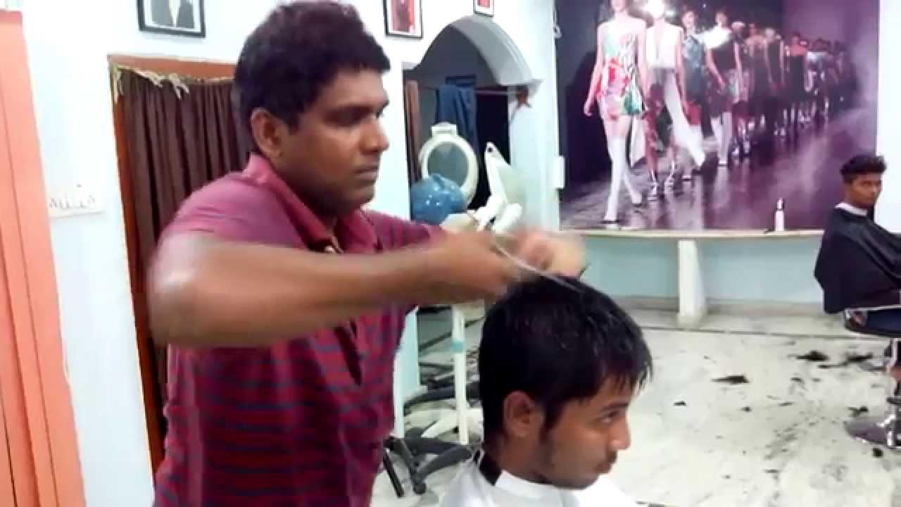 men new hair style 2018 great look Hyderabad dilsukhnagar - YouTube