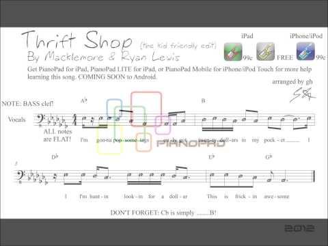 """""""Thrift Shop"""" Macklemore & Ryan Lewis - Piano Sheet Music"""