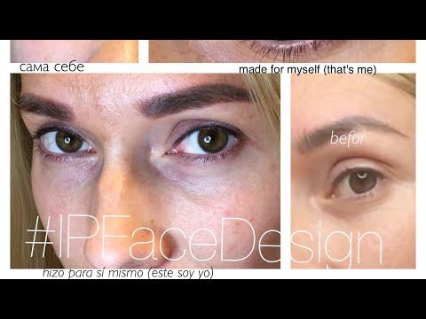 брови и глаза (татуаж сама себе) Dot Work техника