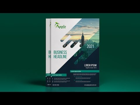 Creative A4 Flyer Design - Photoshop CC Tutorial