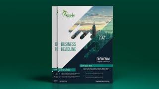 Creative A4 Flyer Design - Photoshop CC Tutorial