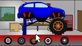 Monster Truck Tuning Stunt _ Auta i Animacja