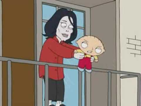 Family Guy - Michael Jackson And Stewie Griffin on Balcony