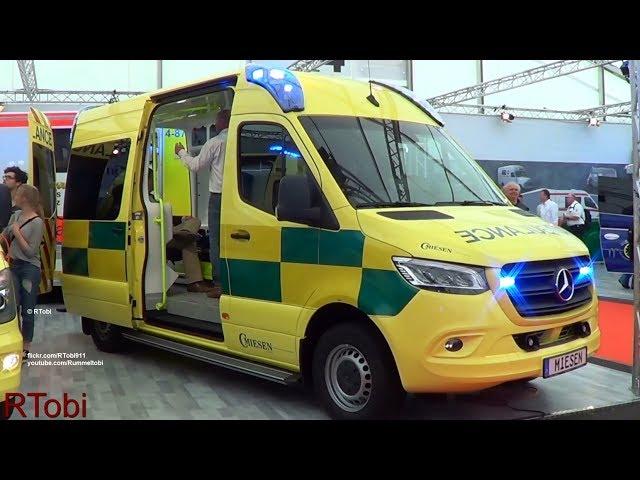 C Miesen medical transport ambulance on the RETTmobil 2018 expo in Germany (for Denmark?)