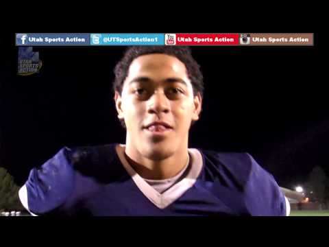 Prep football: Jordan Lutui's (Hunter Wolverines) post-game interview after the West game.