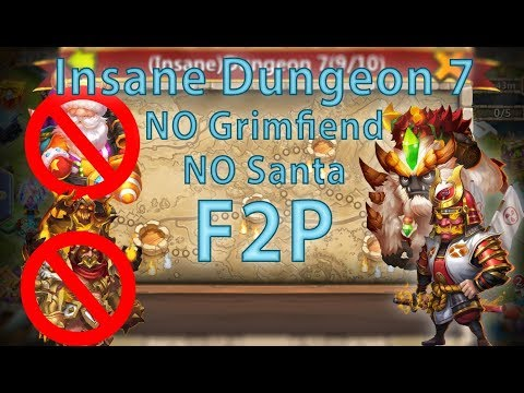 Castle Clash: Insane Dungeon 7 (1-10) F2P   No Santa Boom And Grimfiend   Ronin Strategy