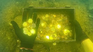 """Found"" Gold Coins While Scuba Diving Sunken Ship! (Explored for Treasure)"