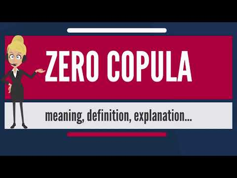 What is ZERO COPULA? What does ZERO COPULA mean? ZERO COPULA meaning, definition & explanation
