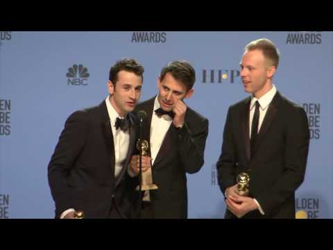Thumbnail: Golden Globes 2017 Justin Hurwitz, Benj Pasek, Justin Paul Backstage Interview
