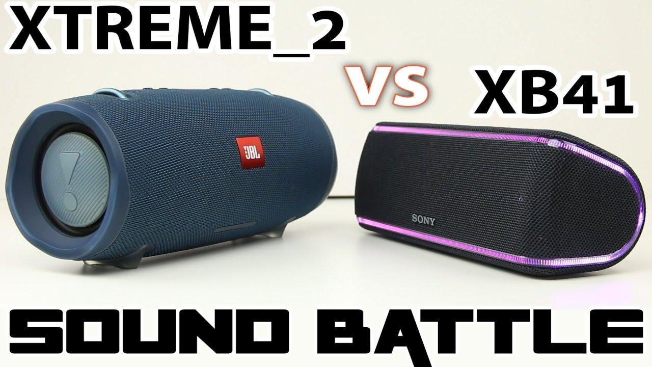 JBL XTREME 2 vs SONY SRS XB41 : Sound Battle