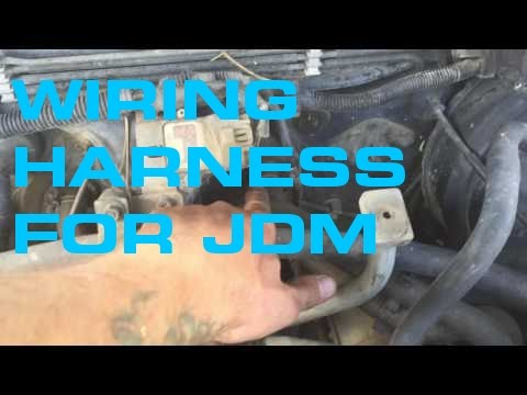 Pull wiring harness for Subaru JDM engine - YouTube