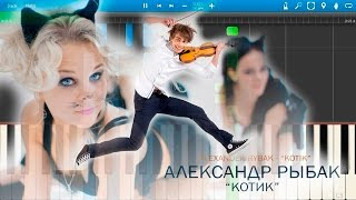Александр Рыбак Котик на пианино Synthesia