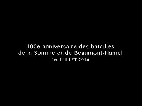 Cérémonie commémorative à Beaumont-Hamel