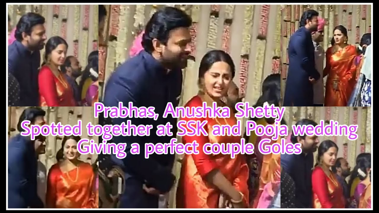 #Prabhas #AnushkaShetty spotted at the #BangaramSaysSS wedding.Looks so adorable and the cutest pair