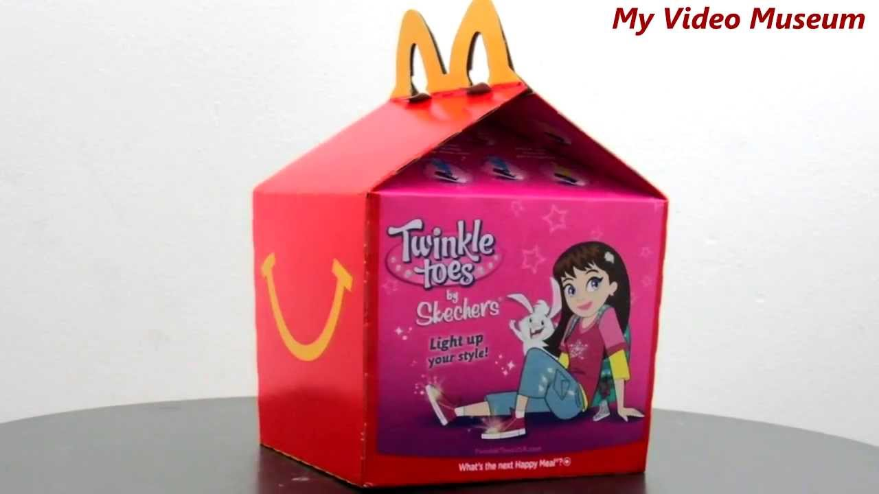 mcdonalds happy meal box featuring hot wheels and twinkle toes by skechers 6 22 2013 _ video museum youtube