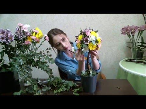 Топиарий из живых цветов своими руками фото 497