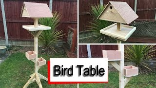 How to build a Bird Table using one 2x4 Timber and a few scraps of plywood. I