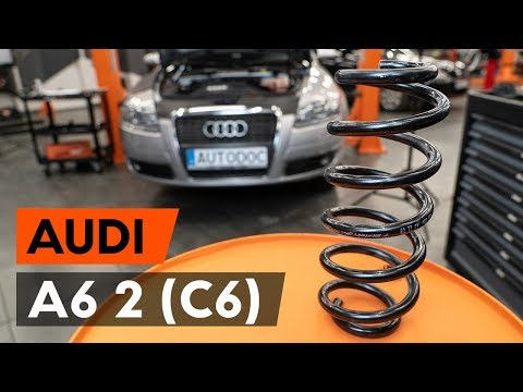How to replace front springs / front coil springs on AUDI A6 2 (C6) [TUTORIAL AUTODOC]