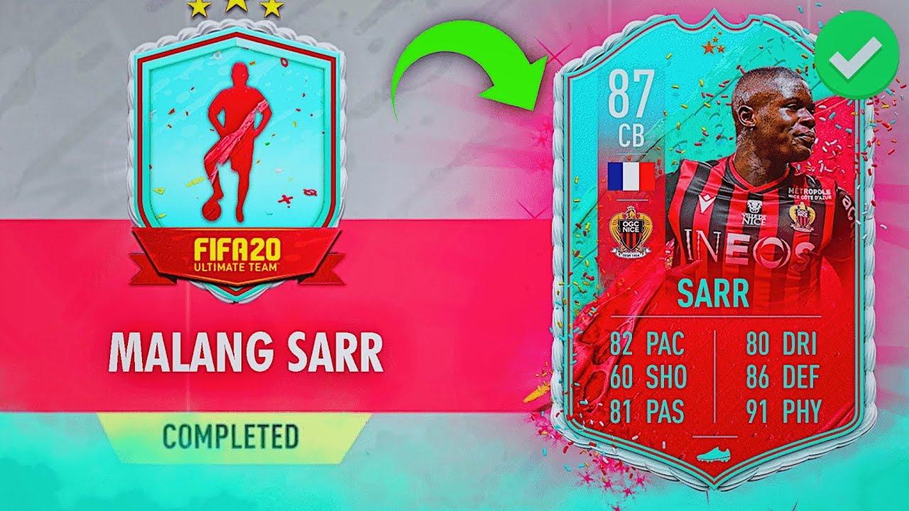 87 Fut Birthday Sarr Sbc Cheapest Solution Fifa20 87 Malang Sarr Fut Birthday Sbc Cheapest Way Youtube
